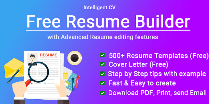 Resume Builder CV maker App Free CV templates 2019 pc screenshot 1