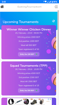Gaming Tournament --Bangladesh pc screenshot 1