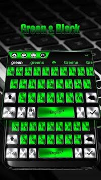 The metallic green keyboard theme pc screenshot 1