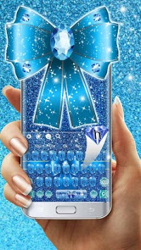 Blue Glitter Bow Knot Keyboard Theme🎀 pc screenshot 1
