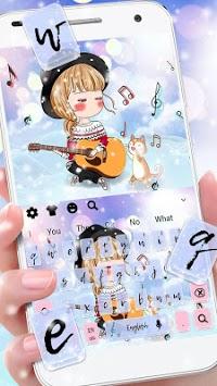 Kawaii Love Girl Keyboard Theme pc screenshot 1