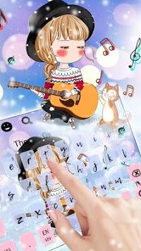 Kawaii Love Girl Keyboard Theme pc screenshot 2
