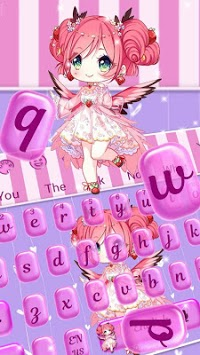 Cute Kawai Girl Keyboard theme pc screenshot 2