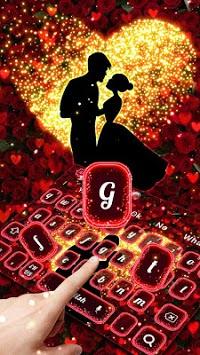 Romantic Valentines Rose Love Keyboard pc screenshot 2