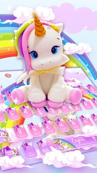 Cute Rainbow Unicorn Smile Keyboard pc screenshot 1