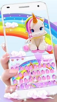 Cute Rainbow Unicorn Smile Keyboard pc screenshot 2