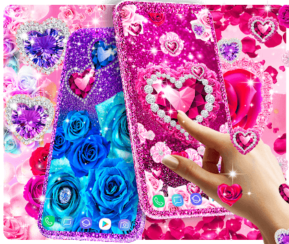 Diamond rose glitter live wallpaper pc screenshot 1