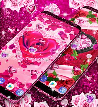 Diamond rose glitter live wallpaper pc screenshot 2