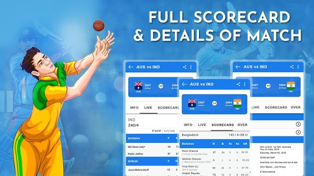 Crick Feed – Live Cricket score & Update pc screenshot 1