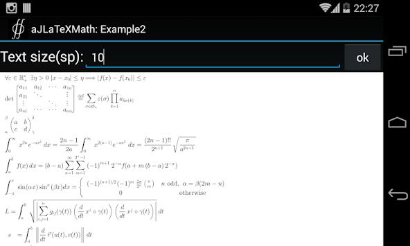 aJLaTeXMath pc screenshot 1