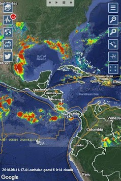 SERVIR - Weather, Hurricanes, Earthquakes & Alerts pc screenshot 1