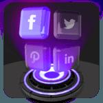 Glass Tech 3D Live Theme icon