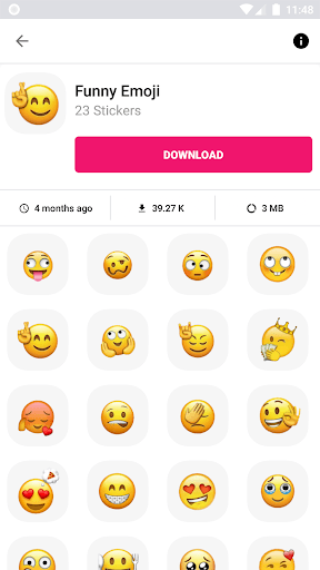 3D Emojis Stickers For WhatsApp - WAStickerApps pc screenshot 1