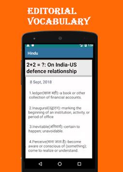 Hindu Vocab App: Daily Editorial & Vocabulary pc screenshot 1